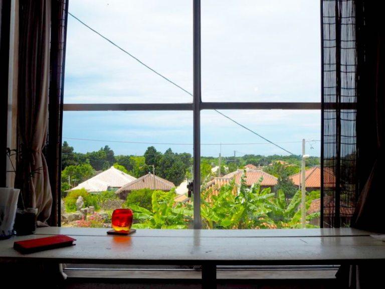 ハーヤナゴミカフェ 窓から見える風景