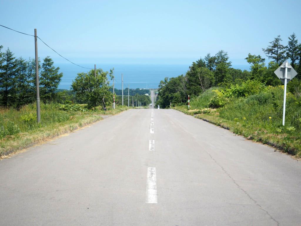 オホーツク海へと続く道