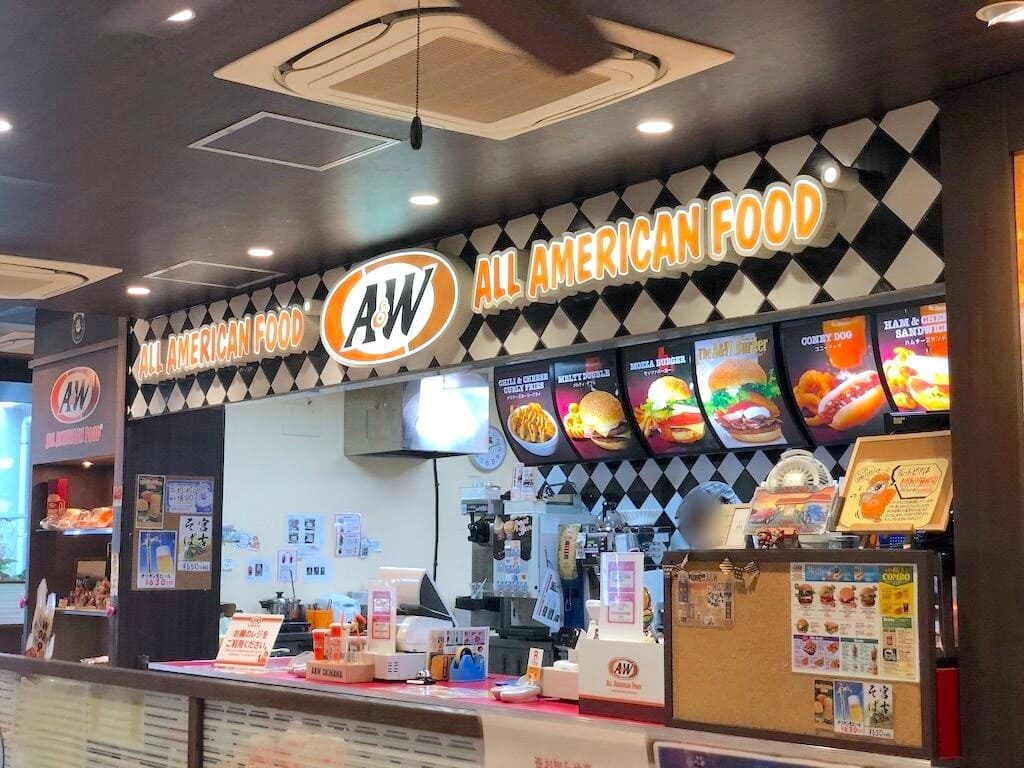 A&W カウンター