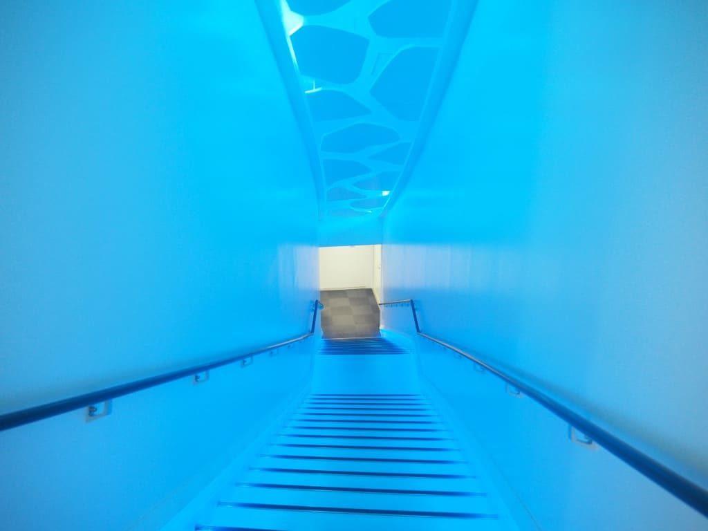 展示室への階段