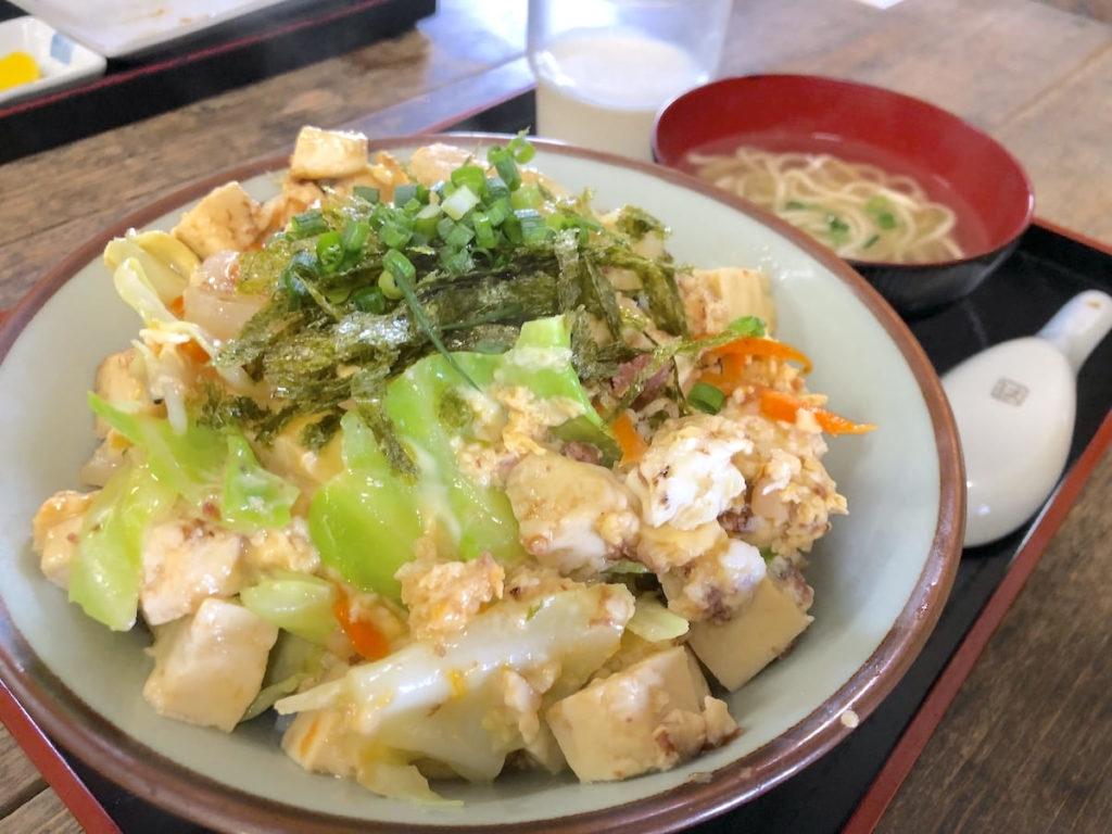 豆腐ちゃんぷるー丼