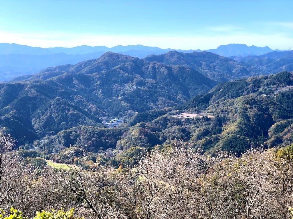 山頂から見える景色
