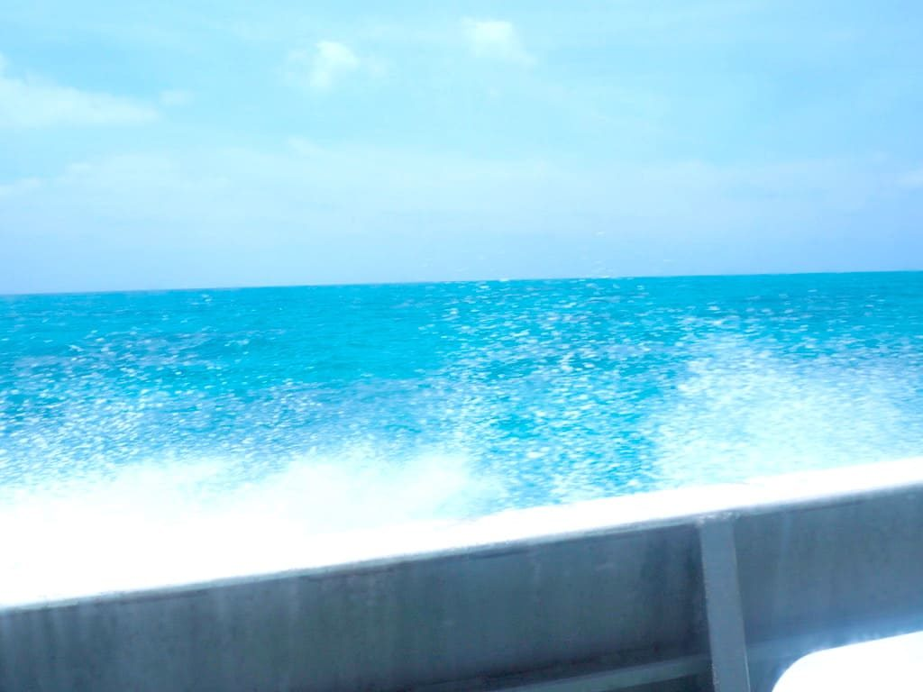 乗船中 外