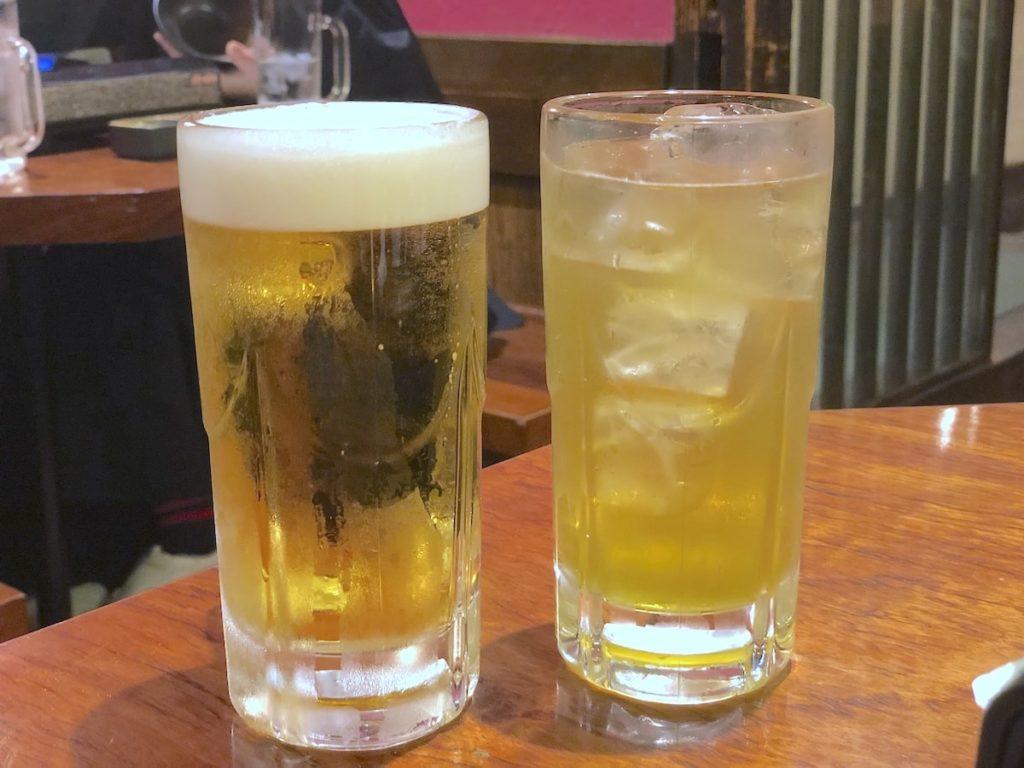 牡蠣貝鮮かいり 渋谷店 ビール