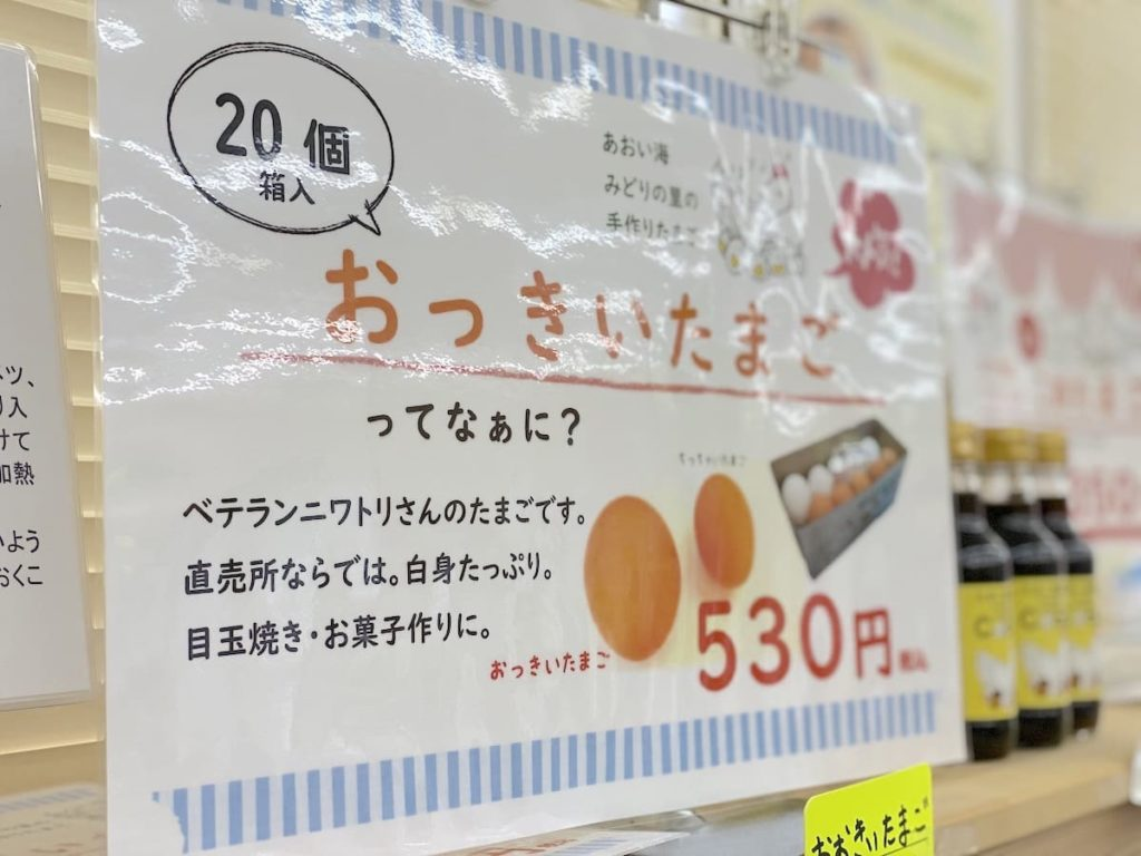 「おっきいたまご 20個箱入り」(530円)